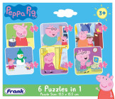 Peppa Pig 6 Puzzles in 1 15.5 x 15.5cm