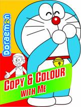 Doraemon Copy & Colour with me Green
